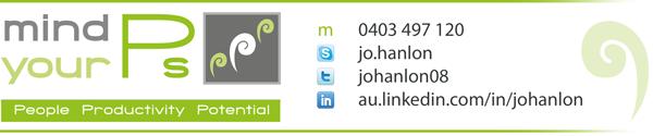 Mind Your Ps Jo Hanlon Contact Details Signature